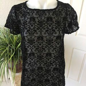 Mini crushed black velvet dress  Love & Lemons